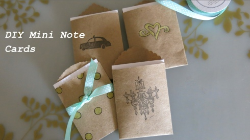 diy mini note cards