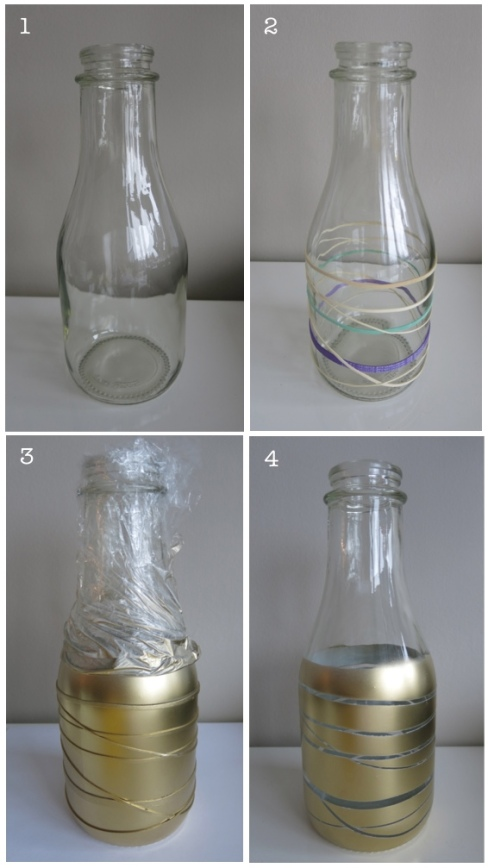Rubber band glass jar 1-4