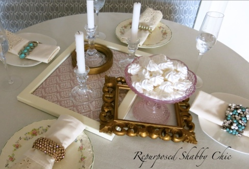 Repurposed shabby chic table